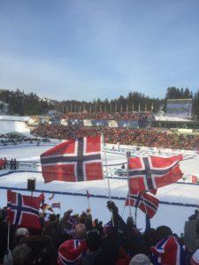 Kanskje ikke like mye publikum som under VM i Holmenkollen, men vi kan jo håpe